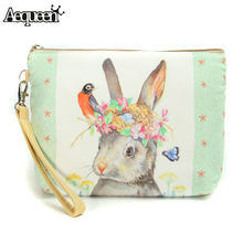 2017 New Women Make Up Bags Flower Floral Canvas Zipper Cosmetic Case Simple Casual Girls Lady Pouch Storage Travel Organizer