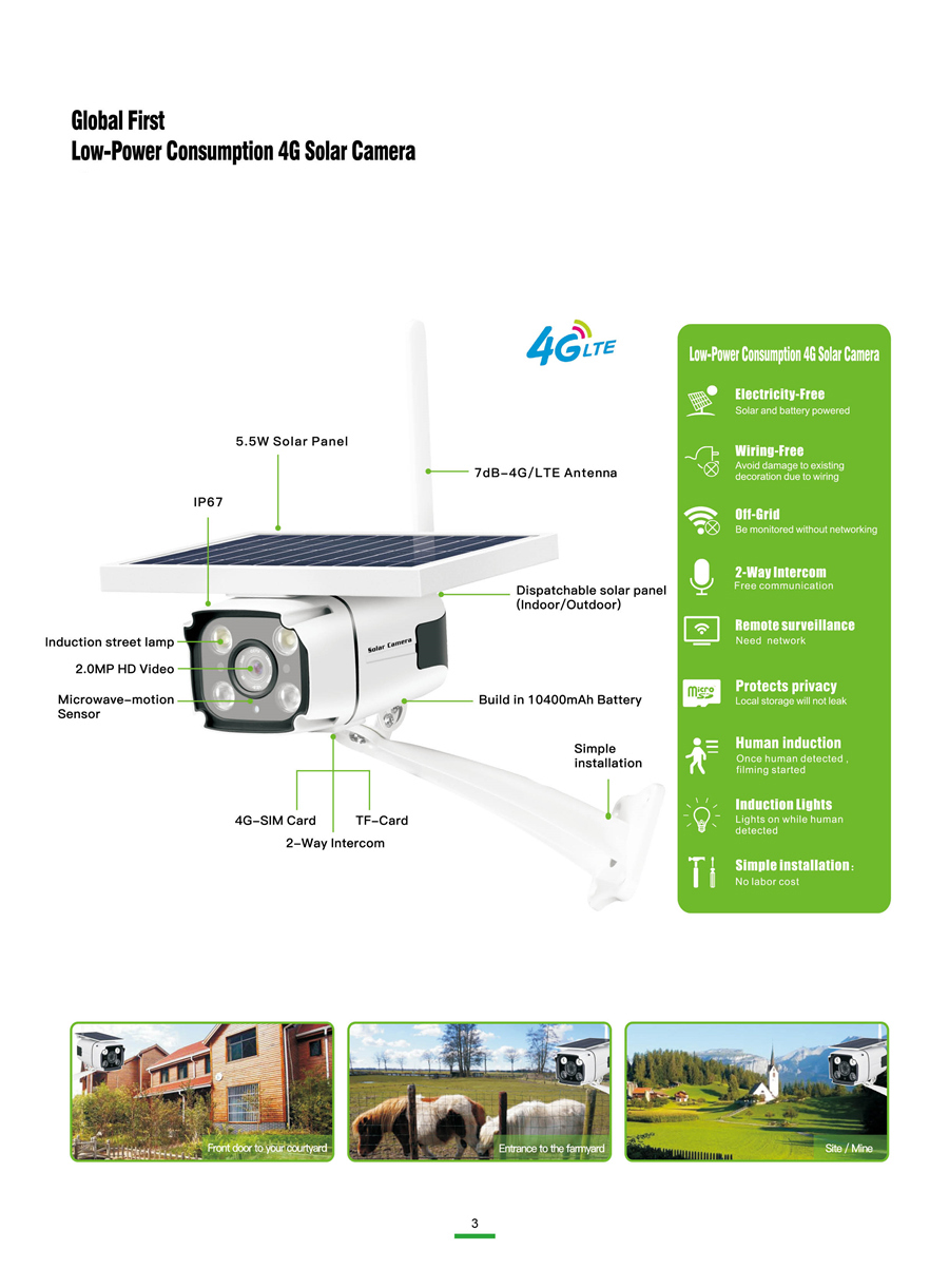Image 4 - SmartYIBA 1080P 2.0M Wireless Solar Battery Power Waterproof Outdoor Surveillance Security CCTV IP Camera 4G SIM Video Recorder-in Surveillance Cameras from Security & Protection