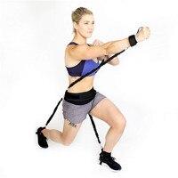 Leg Bouncing Trainer Goma Elastica Fitness Gum Pull Rope Resistance Bands Basketball Elastic Rope Trainer Squat Puller #2M30