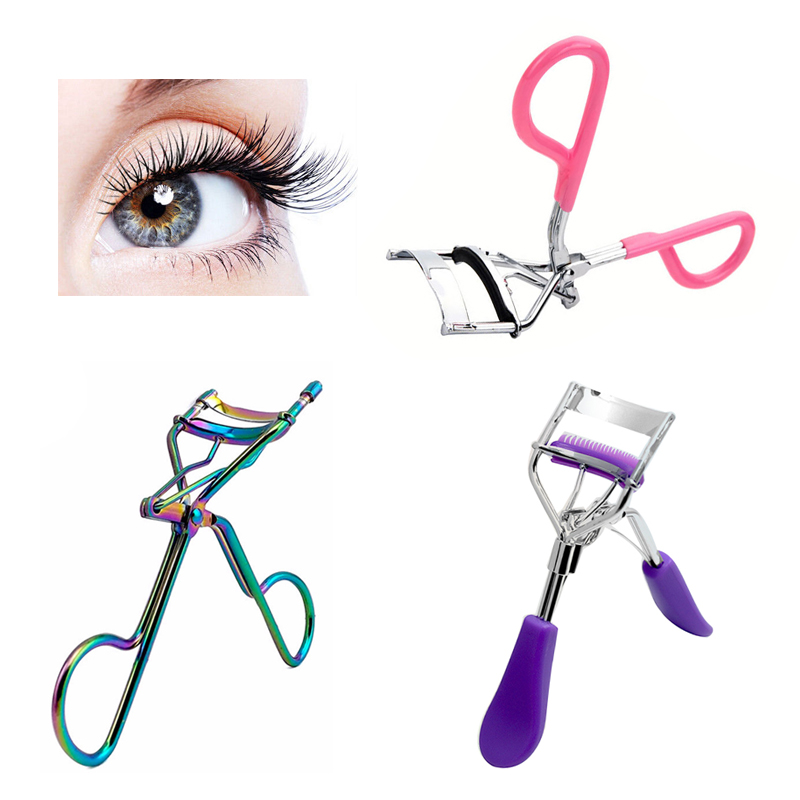 1Pcs Gel de curatare a genelor pentru fete Lash Tweezers Curler Natura Curl Style Eyelash Extension Tools Machiaj Curling Twisting Eye Lashes