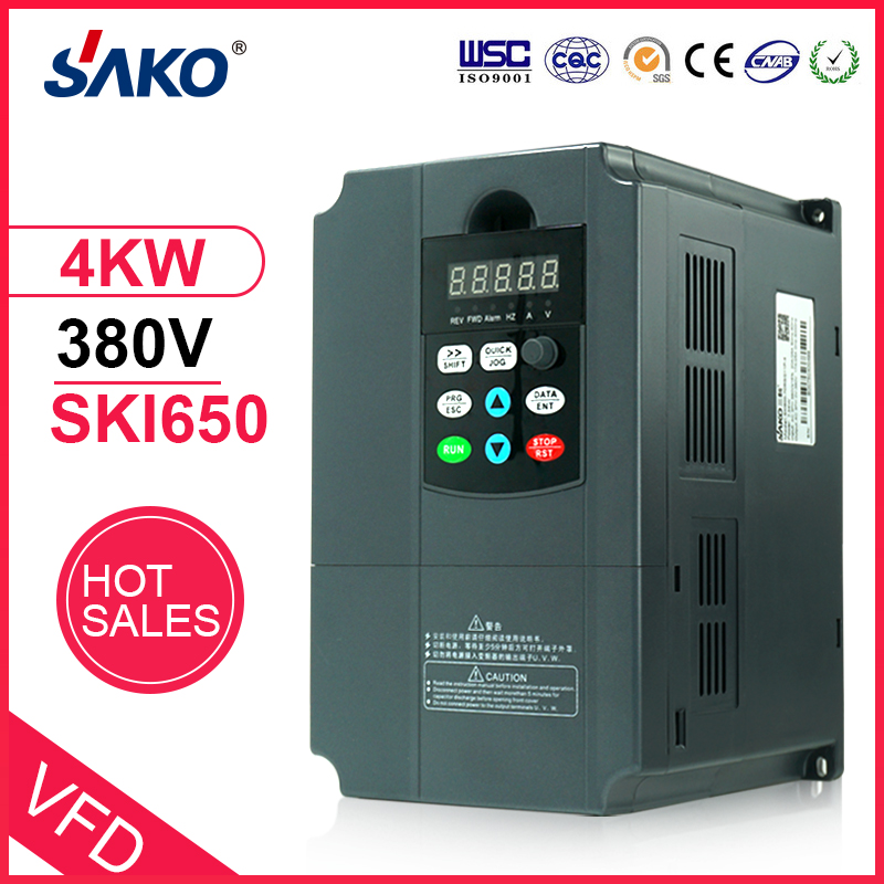 Sako 380V 4KW Solar Photovoltaic Compressed Water Pump DC to AC Inverter of Triple 3 Phase