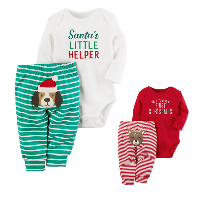 c95bcee2d679 Christmas Baby Rompers Spring Baby Boy Clothing Set Newborn Clothes ...