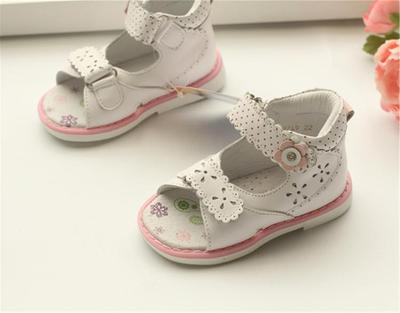 NEW 1pair children's Orthopedic Shoes Kids Genuine Leather,summer Sandals, Baby Child Sandals shoes princepard summer sandals orthopedic baby pink sandals antiskid girl shoes super quality kids shoes orthopedic baby shoes