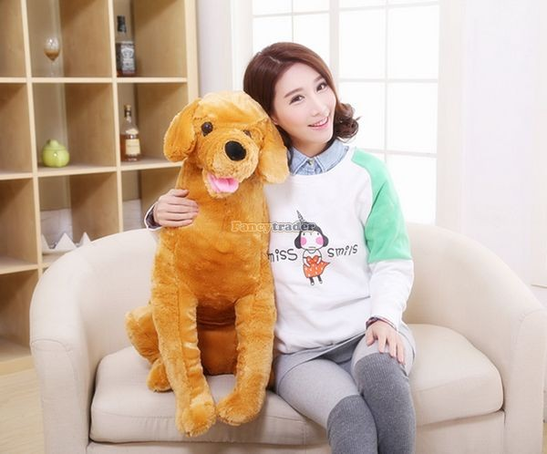 Fancytrader 37\'\' 95cm Lovely Soft Cute Plush Giant Emulational Brown Dog Toy, Free Shipping FT50191(9)