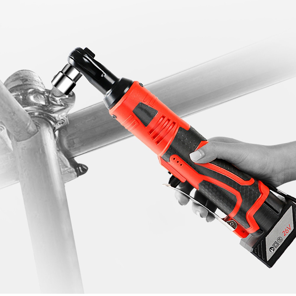 Multifunctional 12V / 26V Cordless Rechargeable Electric Wrench 3/8 Inch Right Angle Electric Ratchet Wrenches with LED LightMultifunctional 12V / 26V Cordless Rechargeable Electric Wrench 3/8 Inch Right Angle Electric Ratchet Wrenches with LED Light