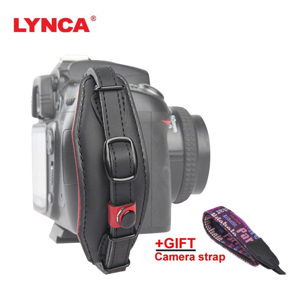 LYNCA Bracelet En Cuir Main de L'appareil Photo Grip Dragonne Ceinture avec Libération Rapide Vis pour Canon Nikon Pentax SLR DSLR Caméras sangle
