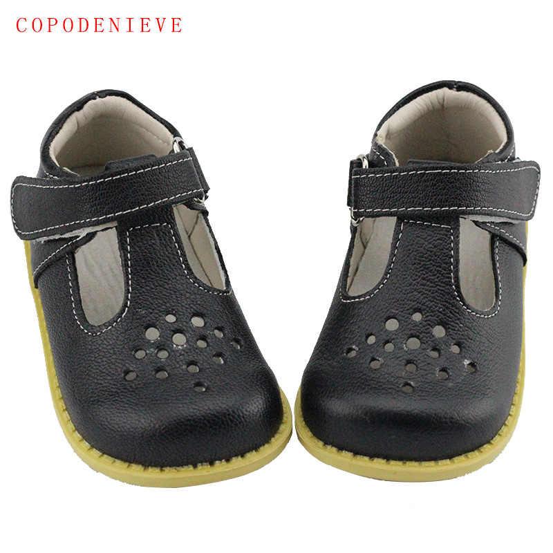 COPODENIEVE/летние детские сандалии из натуральной кожи для девочек; детские сандалии с бантом; обувь принцессы для девочек в форме сердца