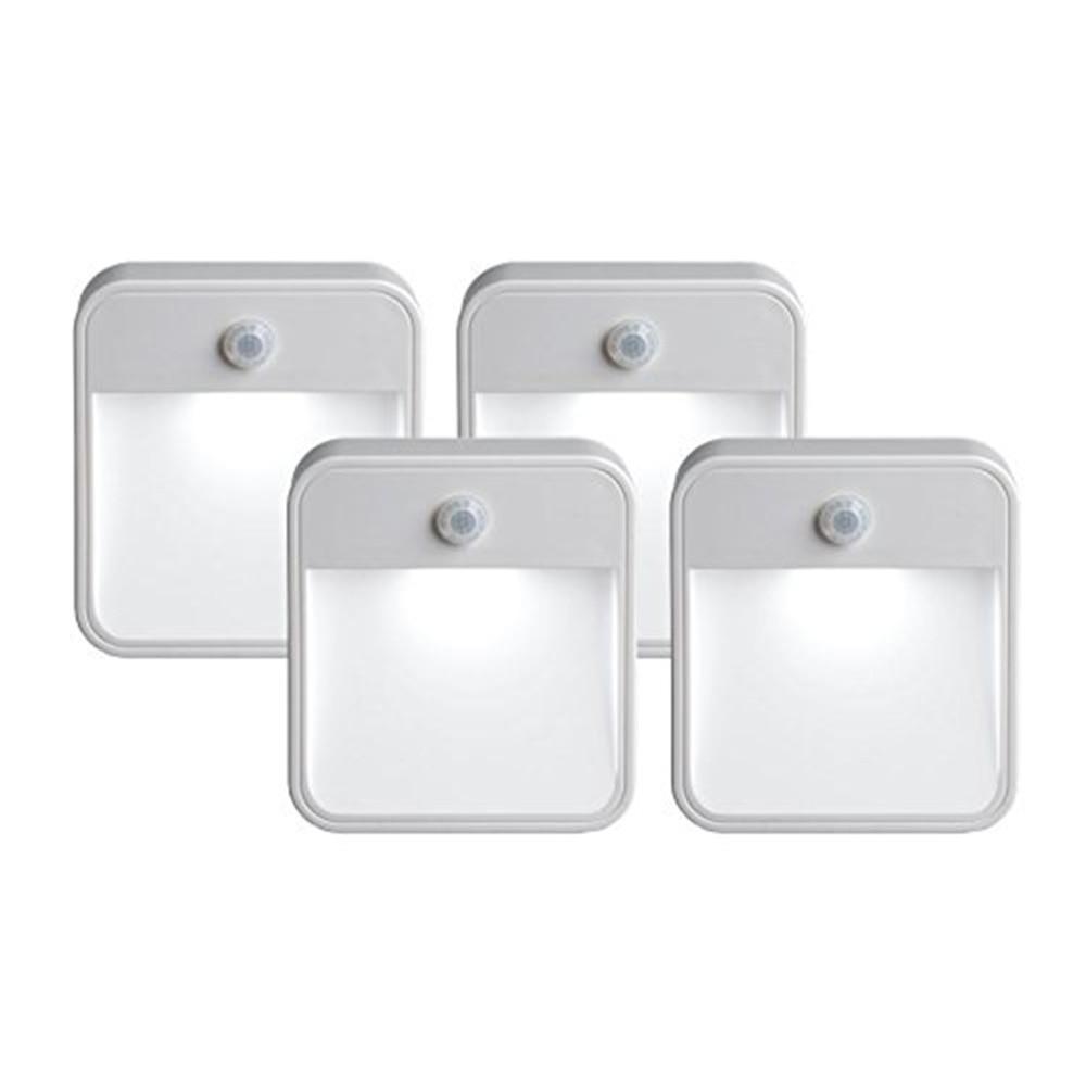 huaxinv aaa bateria levou sensor de controle de luz noturna lampada corredor cozinha banheiro corredor escadas