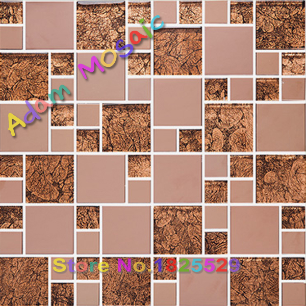Brown Red Metal Tile Backsplash Mosaic Tile Glass Kitchen Wall Sheets Red  Glass Fireplace Gold Stainless Steel Tiles Design On Aliexpress.com |  Alibaba ...