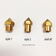5pcs each lot 0.4mm Long Brass Nozzle /Extruder DIY CreatBot FDM Printer Accessories/Parts Large extruder head