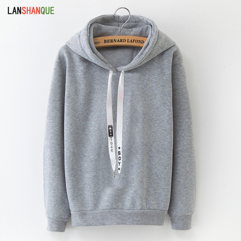 Hoodies Women 2019 Brand Female Long Sleeve Solid Color Hooded Sweatshirt Hoodie Tracksuit Sweat Coat Casual