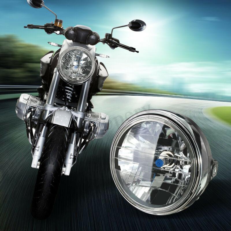 Mount Halogen Bulb Round Lamp INCH Motorbike Motorcycle Head 7 Side H4 Headlight 1 Motorcycle Headlight For Honda Kawasaki Etc