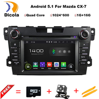 Android 5 1 HD 1024 600 Quad Core RK3188 Car Video Stereo For MAZDA CX 7
