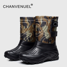 2017 зимние мужские меховой Теплые Водонепроницаемые зимние ботинки Продажа Высокое Туфли на каблуке и платформе высокие рабочие ботинки для мужчин Применение резиновые Сапоги Botas muje