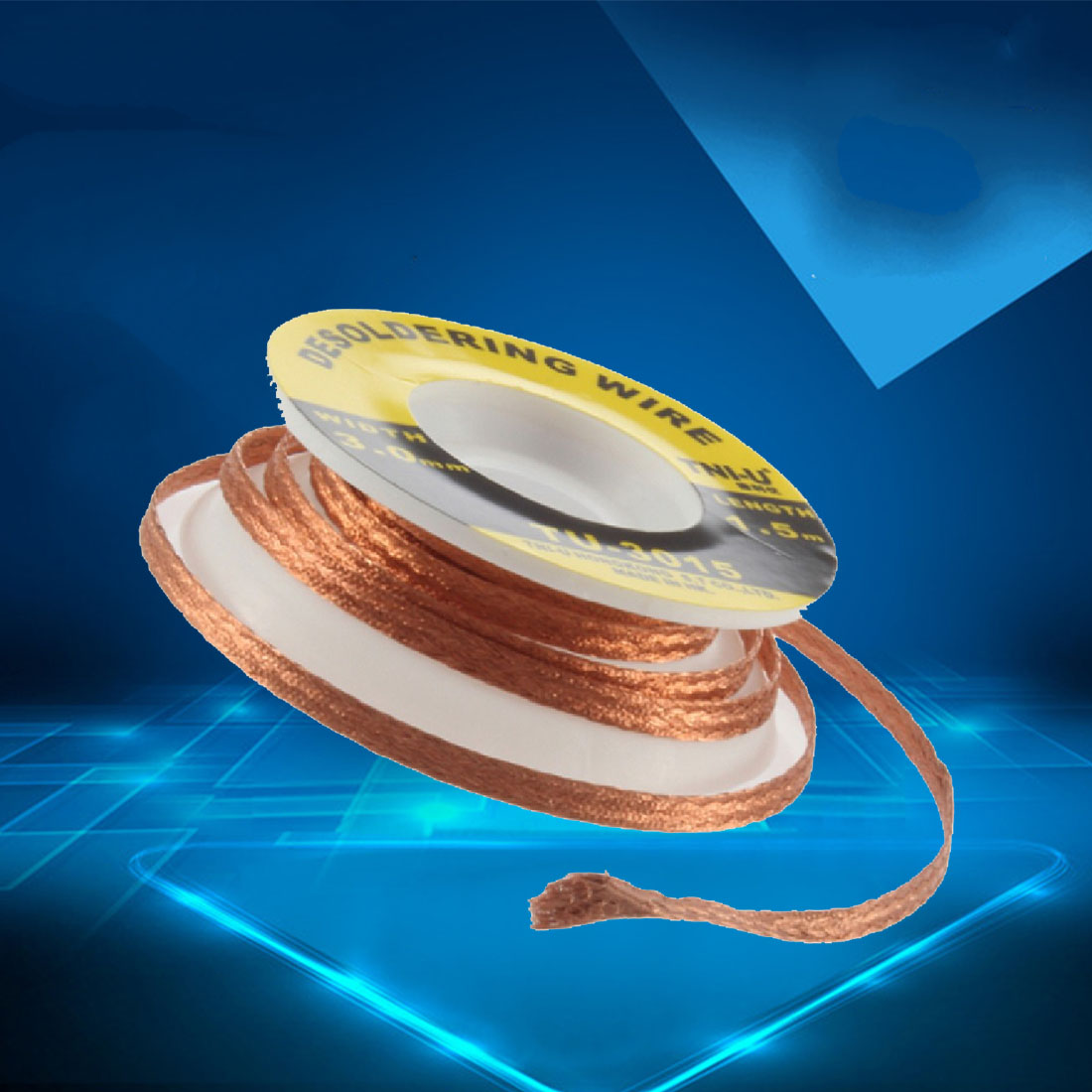 Hot 1pcs 1.5M 3.0mm Thickness Welding Wires Practical Desoldering Braid Solder Remover Wick High Quality
