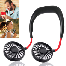 New USB Portable Fan Hands-free Neck Hanging Charging Outdoor Mini Sports