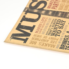 Guitar Vintage Kraft Paper Poster