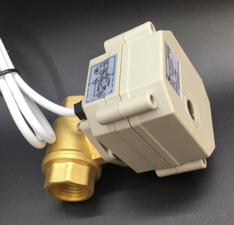 TF15-B2-C AC110-230V BSP 1/2 2-Way Brass DN15 Electric Normally Open/Closed Valve Can Instead Of Solenoid Valve CE IP67