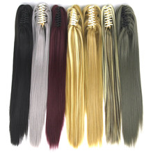 d405b358bef Soowee 24inch Long Straight Horse Hair Pony Tail Synthetic Hair Claw  Ponytail False Hair on Hairpins