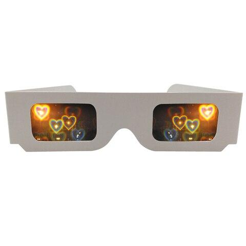 Grades de Difração Óculos para Fogos de Artifício Mostra do Laser 50x de Papel Barato Quadro Espirais Linhas 3d Íris Edm Rave Prismas – 13500