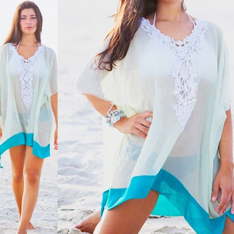 Summer Women Beach Cover Up Sexy Swimsuit Bathing Suit Cover Up Beach Wear Dress Multifunction Scarf