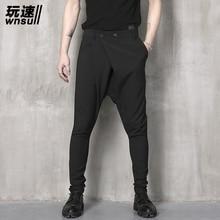 M-6XL!!!  2017 Big yards men's trouse  summer pants harem pants male personality boot cut jeans men's clothing big long trousers