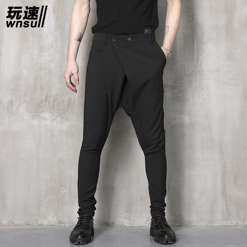 M-6XL!!! 2018 Big yards mens trouse summer pants harem pants male personality boot cut j ...
