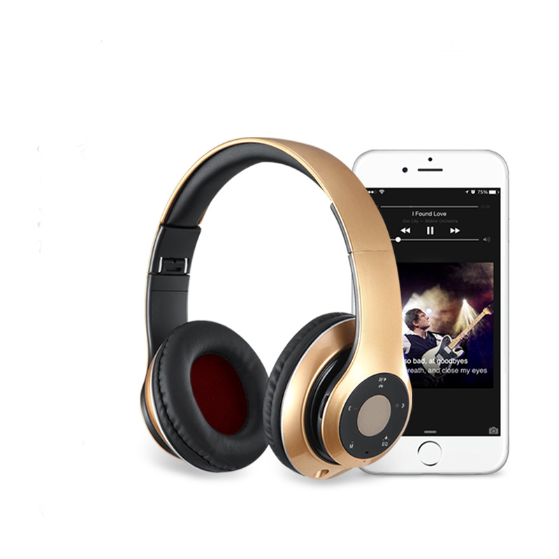 Headphones Wireless Bluetooth Headset Stereo Microphone Noise Cancelling HiFi Black White Gold for Phone iPhone Samsung Xiaomi wireless bluetooth headset mini business headphones noise cancelling earphone hands free with microphone for iphone 7 6s samsung