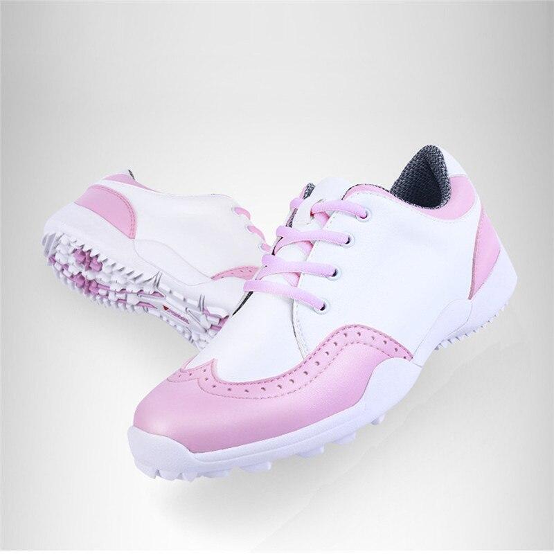 PGM Golf Shoes Sneakers Women Leather Waterproof Sport Footwear Breathable Sport Lady Tennis Girl Walk Non Slip Golf Shoes Women