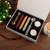 Classic Vintage Wax Seal Stamp Sealing Wax Stick Letters Words Gift Boxed Set Wedding Costom Greetings