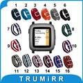22mm correa de nylon para pebble tiempo/smart watch banda de acero LA OTAN Ejército Militar Tela Correa de Muñeca Pulsera de Múltiples Colores + Herramienta