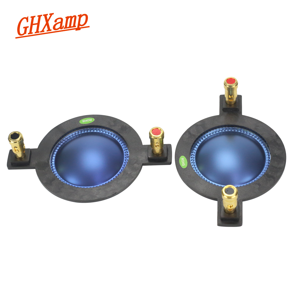 GHXAMP 44.4MM Voice Coil Blue Film 44 Core Horn Tweeter Driver Diaphragm Treble Speaker Repair DIY 8OHM 70-250W High-end 2PCSGHXAMP 44.4MM Voice Coil Blue Film 44 Core Horn Tweeter Driver Diaphragm Treble Speaker Repair DIY 8OHM 70-250W High-end 2PCS