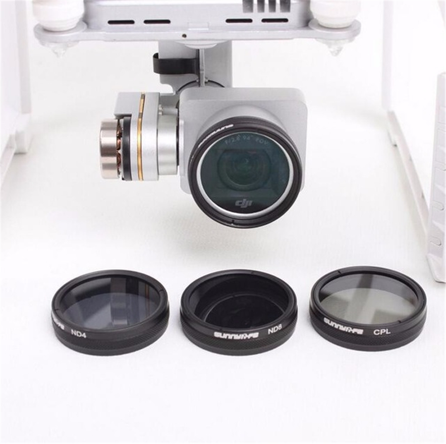 DJI Phantom 3 4 Accessories ND4 / ND8 / MCUV / CPL HD Lens Filter For Phantom 4 Phantom 3 Professional & Advanced & Standard Cam