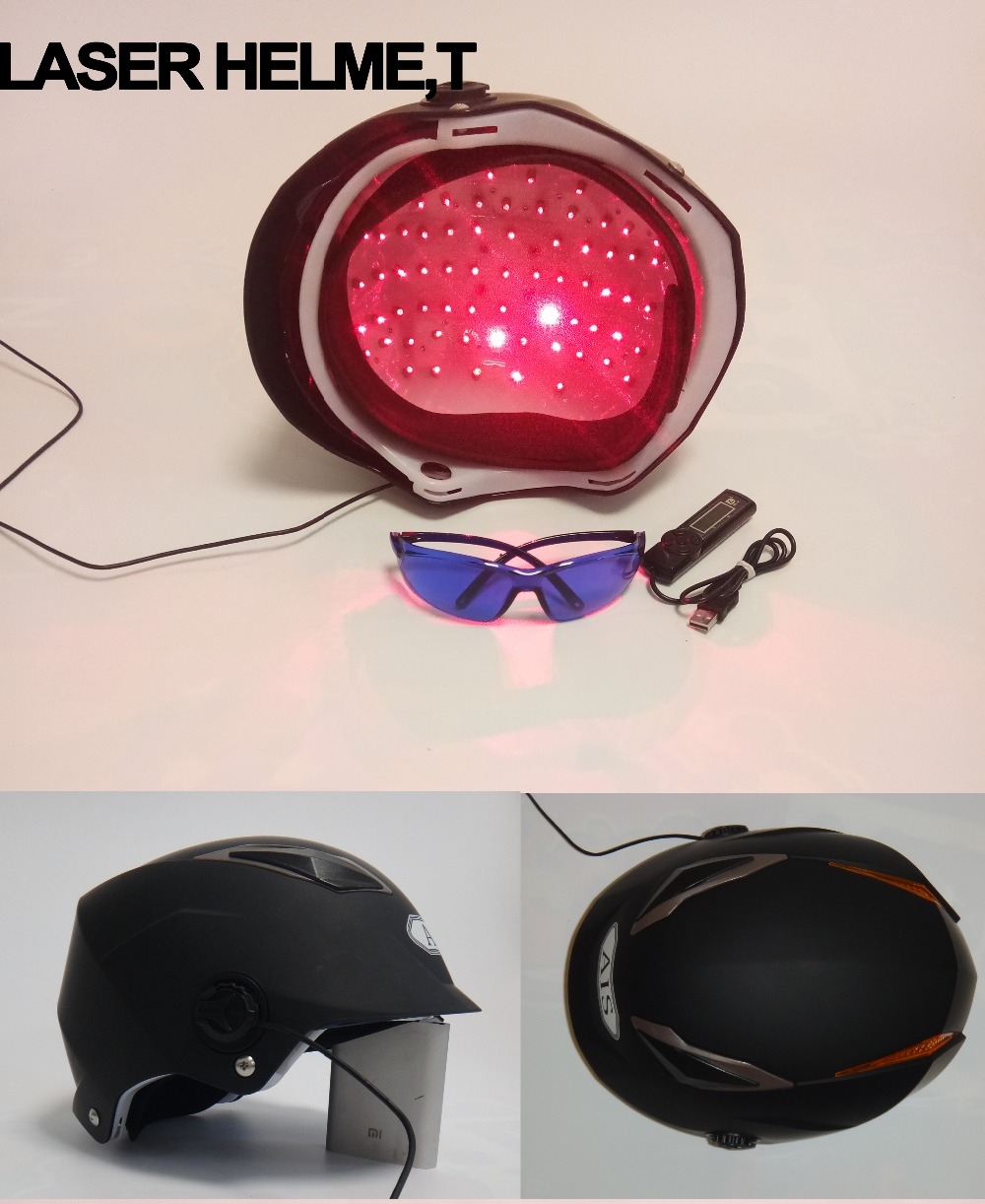 LLLT Therapy for hair loss treatment 650nm 68 diode laser helmet hair regrowth lllt hair therapy laser hat for hair regrowth hair helmet laser for anti hair loss solution