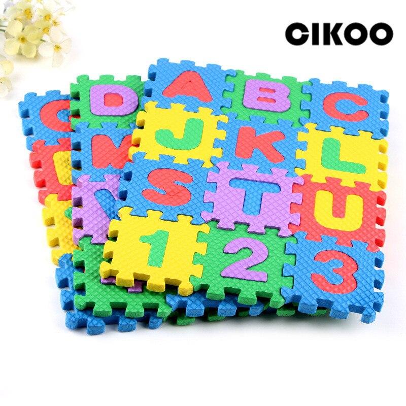CIKOO Alphabet Letter Toys Kids Baby Puzzle Mats 60MM X 60MM Carpet Babies 36PCS Language Foam Learning Toy