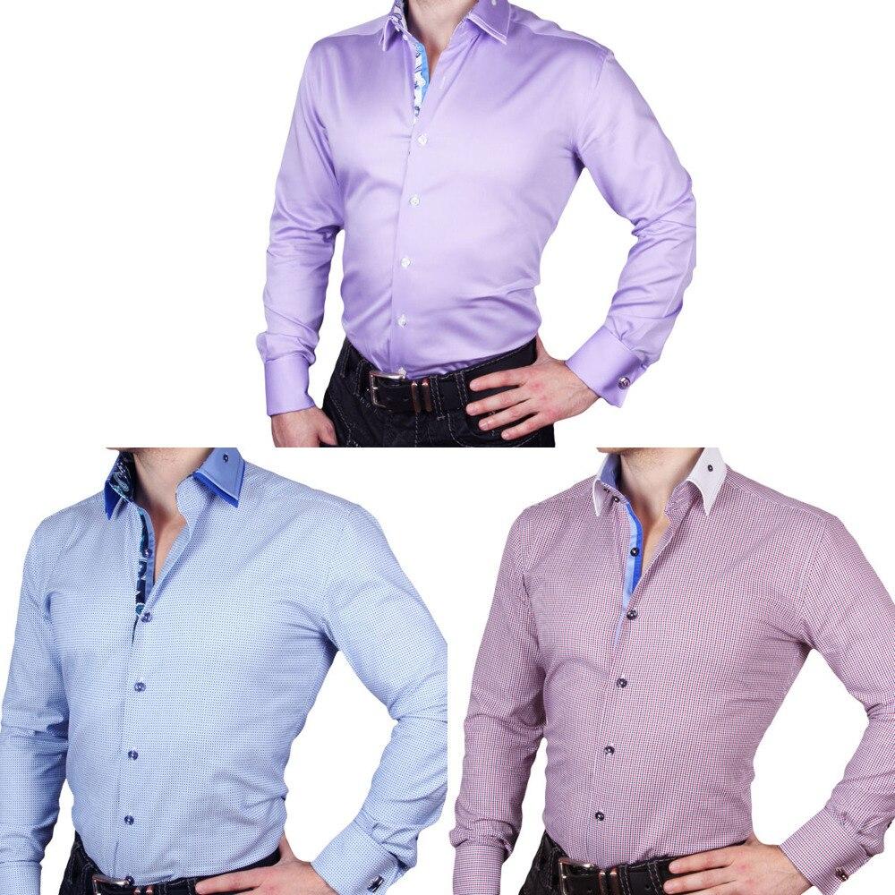 J.DeL 또는 새로운 도착한 남자의 면화 공상 고전적인 드레스 셔츠 고전적인 긴 소매 슬림 피팅 고품질 Euro.design