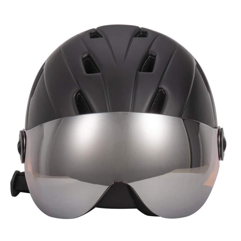 Qualité supérieure Intégralement casque de ski Avec Lunettes Demi-couvert casque de ski Lunettes CE Sports de Plein Air Snowboard Casque Noir - 5