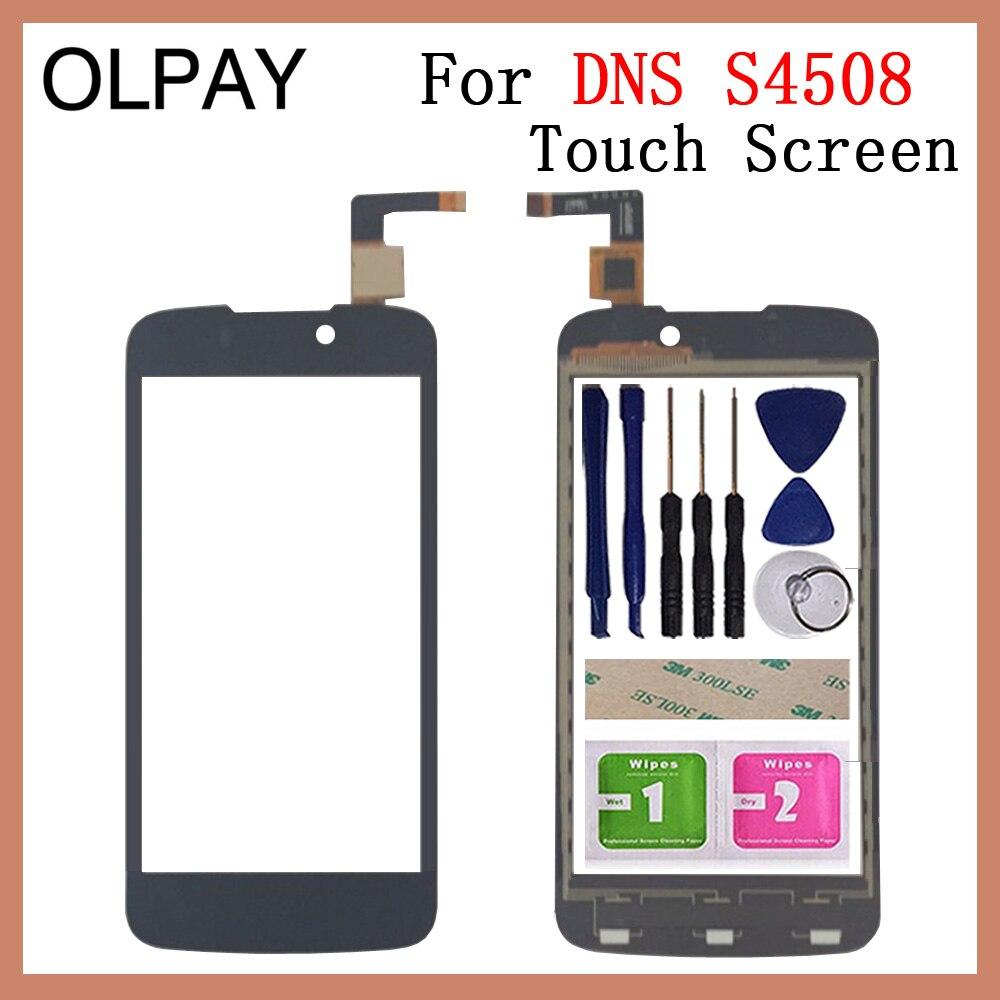 OLPAY 4.5 Per Il DNS S4508 di Tocco Digitale Dello Schermo di Parti di Riparazione del Pannello Touch Screen Frontale Obiettivo di Vetro del Sensore di Trasporto Adesivo + salvietteOLPAY 4.5 Per Il DNS S4508 di Tocco Digitale Dello Schermo di Parti di Riparazione del Pannello Touch Screen Frontale Obiettivo di Vetro del Sensore di Trasporto Adesivo + salviette
