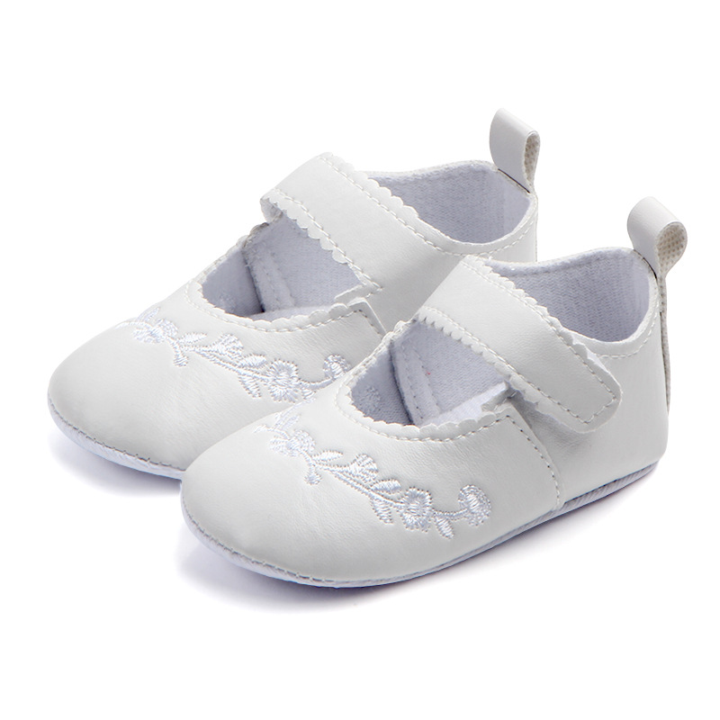 Brand Children Baby Girls Kids Shoes Non-Slip Embroidery Flower Toddlers First Walkers Bebes Newborn Infantil Princess