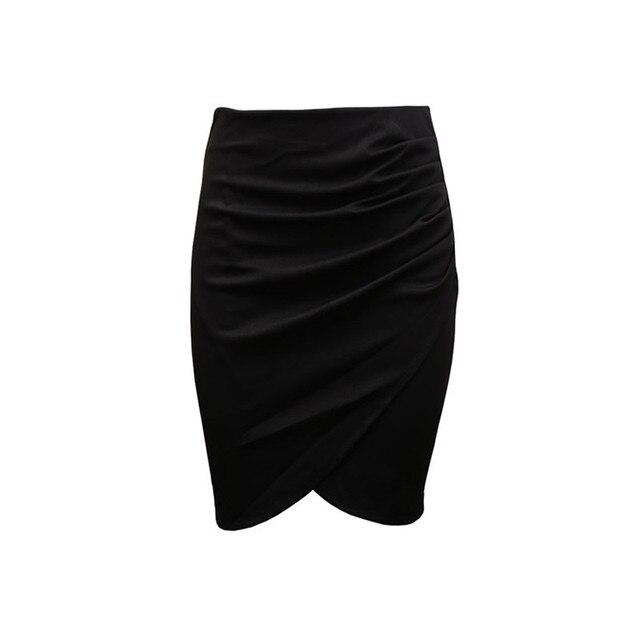 New Split Vintage Mini Bodycon Skirt High Waist Women Pencil Skirt Solid Elegant Lady OL Office Skirts For Female XS-XXL 3