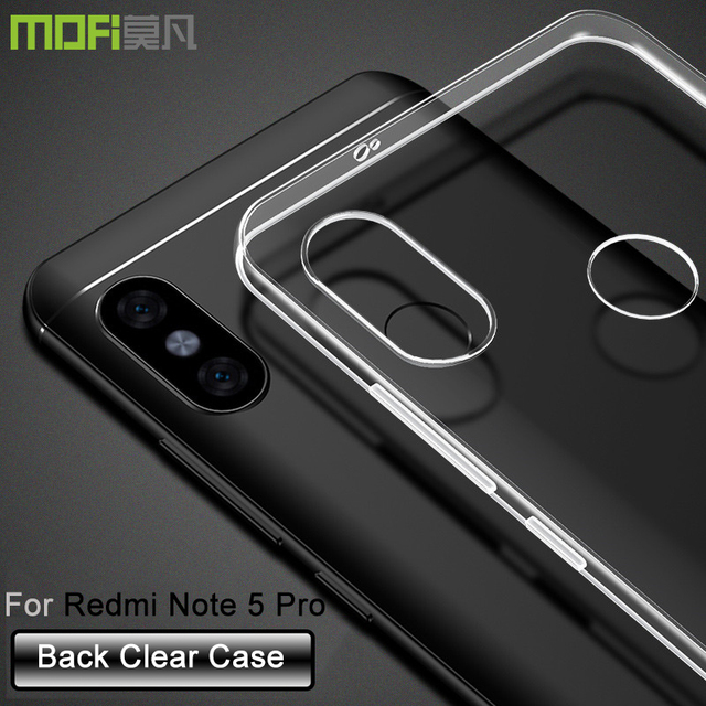 separation shoes 488f6 8d21b US $7.49 |Xiaomi Redmi Note 5 pro case MOFi redmi Note5 pro clear cover  silicon Redmi Note 5AI case Note5 AI Case coque funds 5.99