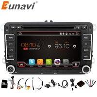 Eunavi 2 Din Android 6.0 Car Audio Car DVD Player GPS Radio For VW GOLF 6 Polo Bora JETTA B6 PASSAT Tiguan SKODA OCTAVIA 3G OBD