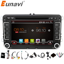 Eunavi 2 Din Android 6.0 Car Audio Reproductor de DVD GPS de Radio Para VW GOLF 6 Polo Bora JETTA PASSAT B6 Tiguan SKODA OCTAVIA 3G OBD