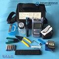 14 PCS Kit de Fibra Óptica FTTH Ferramenta com FC-6S FIBER Cleaver e Power Meter Óptico 5 km Visual Fault Locator Fio stripper