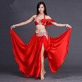 Bellydance indio oriental belly danza gitana traje de baile trajes ropa sujetador cinturón de cadena de anillo bufanda falda dress suit set 130