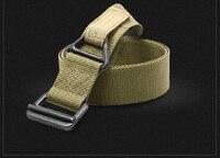 Odkryty taktyczne wielofunkcyjny pas mężczyźni kobiety taktyczne pionowe rescue Rescue fanem pas płótna pasa nylonowego Heavy duty belt