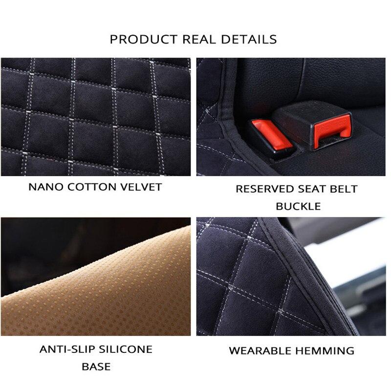 AUTOYOUTH coton coussins de siège de voiture 2 sièges respirant housse de siège de voiture protecteur universel pour camions SUV bleu foncé antidérapant - 5