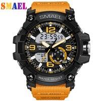 SMAEL Luxury Brand Men Sport Digital Led Watch G Military Multifunction S Shock Wristwatch 5atm Waterproof