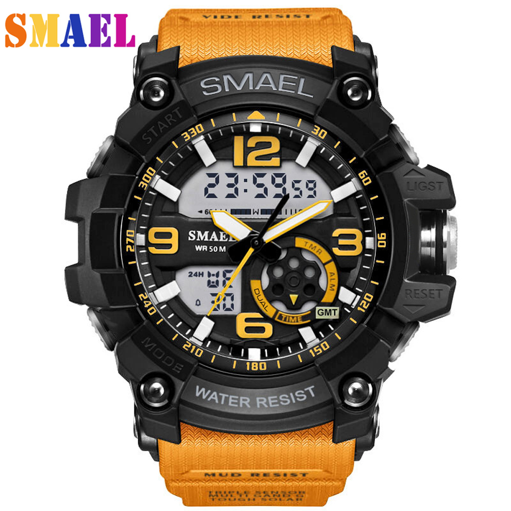 SMAEL Luxury Brand Men Sport Digital Led Watch G Military Multifunction S Shock Wristwatch 5atm Waterproof Relogio Special Offer