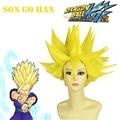 Free Shipping Dragonball Z Son Gohan Super Saiyan Golden 40cm Anime Cosplay Wig